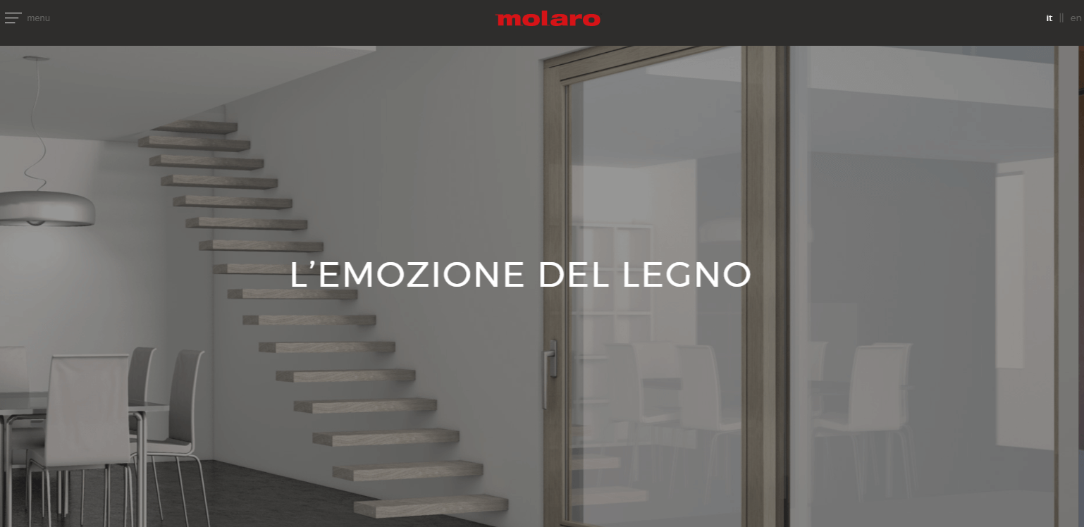 The new website www.molaro.it is on-line