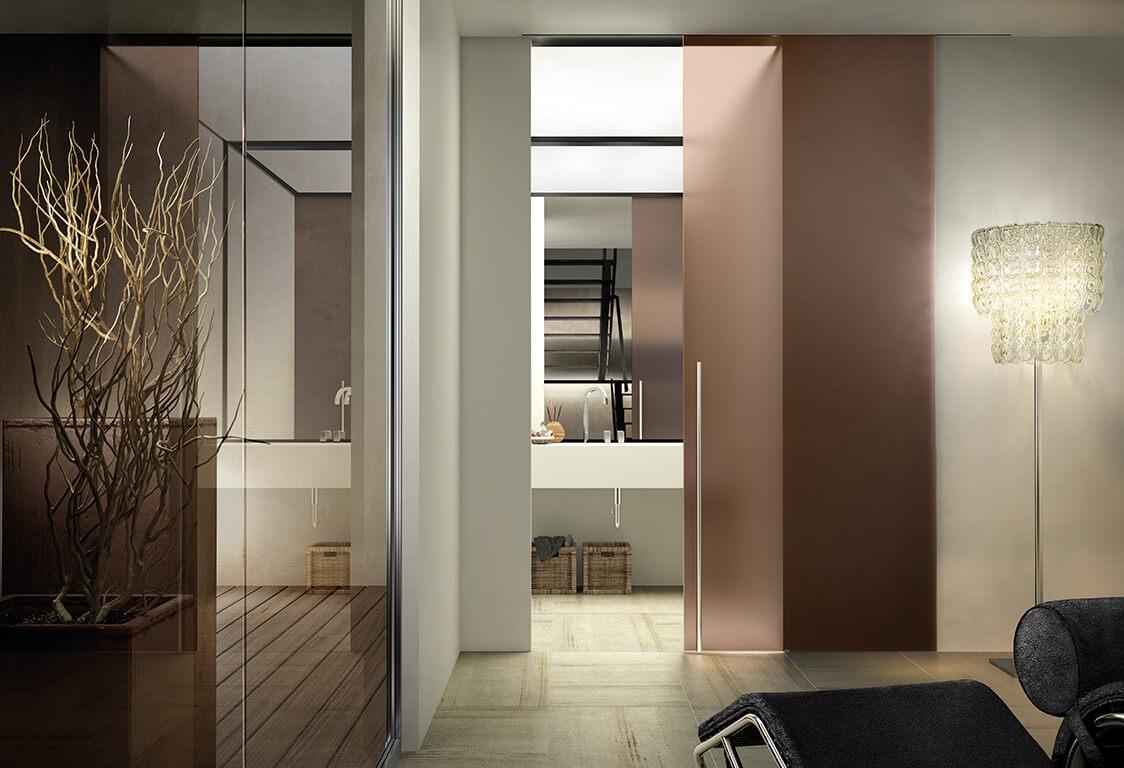 Porte interne porte scorrevoli porte a filo muro e porte - Porte interne in vetro scorrevoli ...
